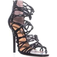Halston Heritage Ania Strappy Sandals, Black - 6.5 us