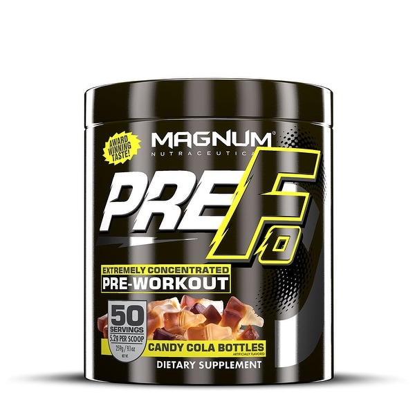 Magnum Nutraceuticals PRE-FO Pre-Workout Powder- 50 Servings - Candy Cola Bottles - Maximizes Energy - Intensity & Focus