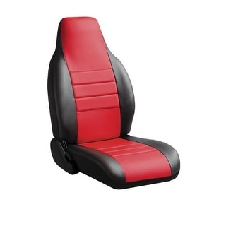 Fia SL62-73 RED Custom Fit Rear Seat Cover Bench Seat - Leat - black with red center panel