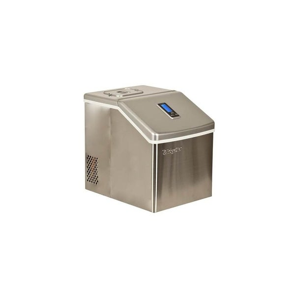 """EdgeStar IP211 11"""" Wide 2.2 Lbs. Capacity Portable Ice Maker with 20 Lbs. Daily Ice Production - Stainless Steel - N/A"""