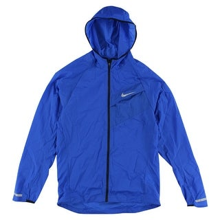 Nike Mens Impossibly Light Running Jacket Royal Blue - royal blue/reflective silver - S