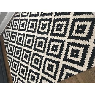 nuLOOM Handmade Abstract Wool Fancy Pixel Trellis Area Rug (7'6 x 9'6)