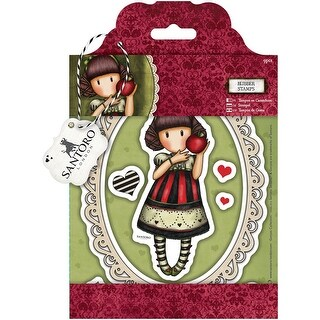 Gorjuss Santoro Rubber Stamp-Dear Apple