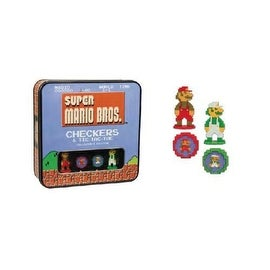 Nintendo Wii/ Wii U Super Mario 8bit Checkers/ Tic Tac Toe Combo Board Game