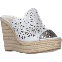 Nine West Derek Wedge Scalloped Sandals, White
