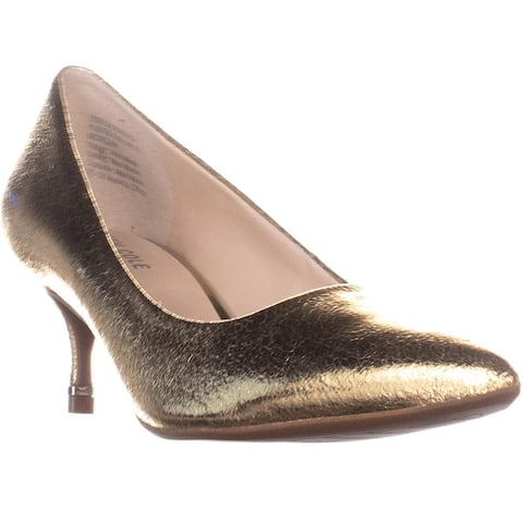Kenneth Cole Morgan Kitten Heels, Yellow Gold - 8.5 US / 39.5 EU