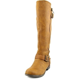 Material Girl Larisa Wide Calf Women  Round Toe Synthetic  Knee High Boot