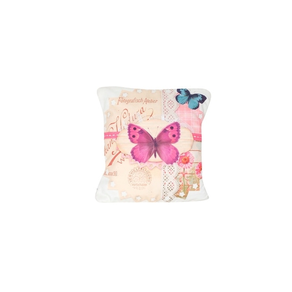 Arzezum Pillow Cover for Home Decor, Set of 2, Pink Butterfly. Opens flyout.