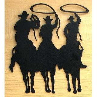 Large Metal Cut Out - 3 Cowboy Silhouette