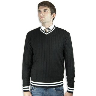 V-Neck Cable Sweater (SW-028)