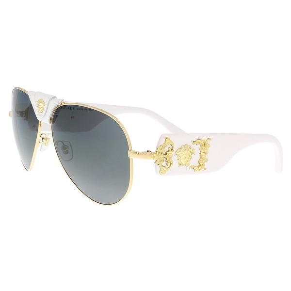 5d1024ff59 Shop Versace VE2150Q 134187 Gold Aviator Sunglasses - 62-14-140 ...