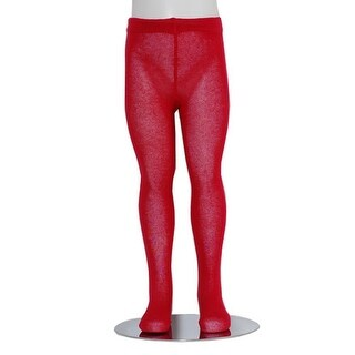 Red Piccolo Heavyweight Opaque Baby Girl Tights 0-24M