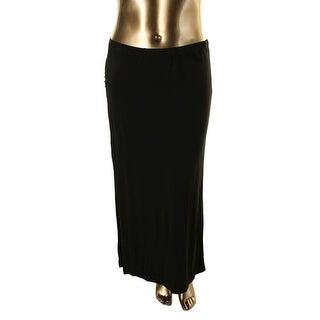 Vince Camuto Womens Slit Ruched Maxi Skirt