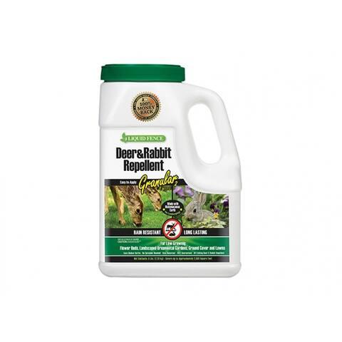 Liquid Fence HG-72654 Deer & Rabbit Repellent, Granular, 5 Lb