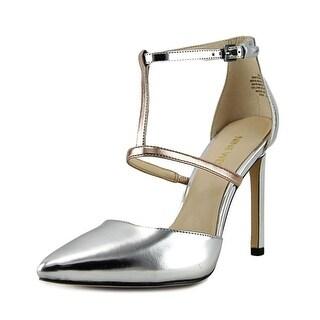 Nine West Tornaydo Women Open Toe Synthetic Silver Platform Heel