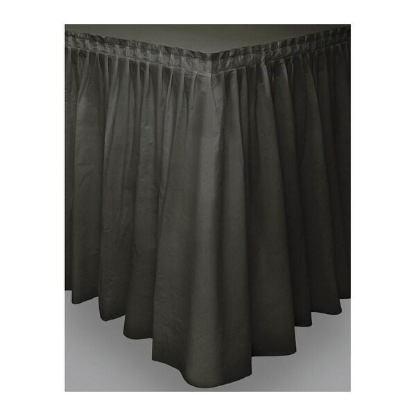 "Plastic Tableskirt 14'X29""-Black - Black"