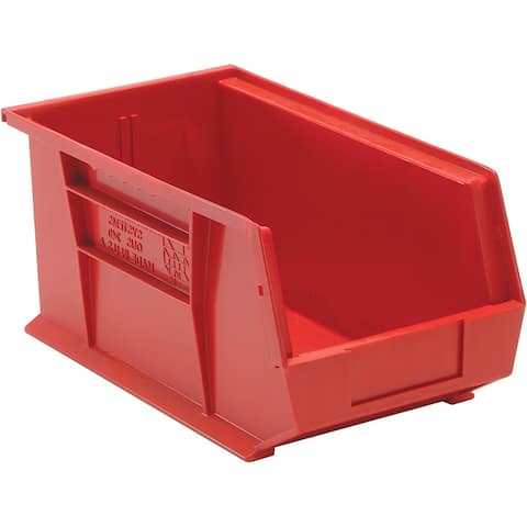 Quantum QUS240RD Red Storage Bin, 14-3/4""