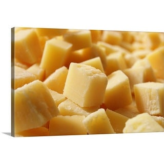 """""""Parmigiano Reggiano Cheese Cut in Cubes"""" Canvas Wall Art"""