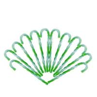 6 in. Green & White Twist Candy Cane Christmas Ornaments - 12 Count