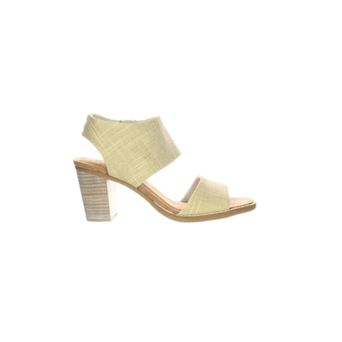 TOMS Womens Majorca Cutout Gold Ankle Strap Heels Size 8