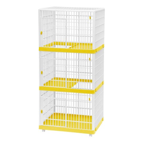 3-Tier Cat Cage in Yellow