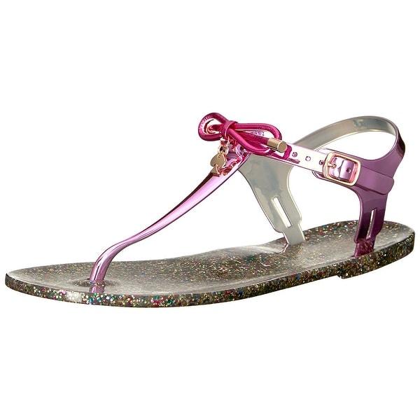 Kate Spade New York Womens Fanley Jelly Split Toe Casual, Fuchsia, Size 6.0