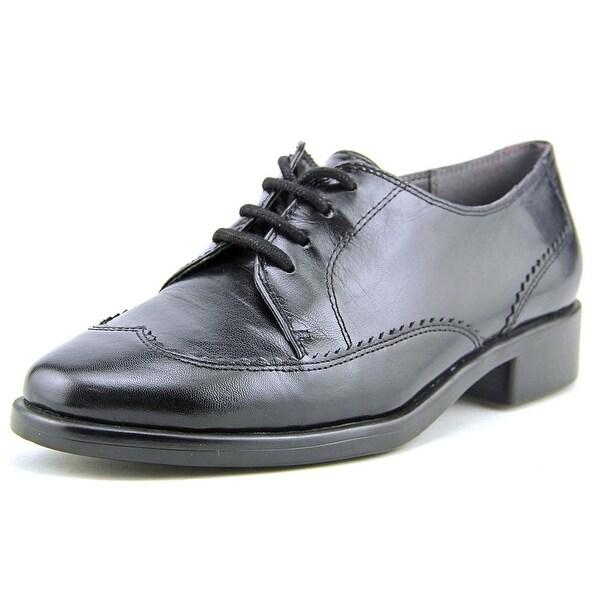 Aerosoles Accomplishment Women Wingtip Toe Leather Black Oxford