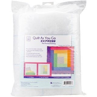 Quilt As You Go Express Printed Quilt Blocks On Batting-Colorado Cabin