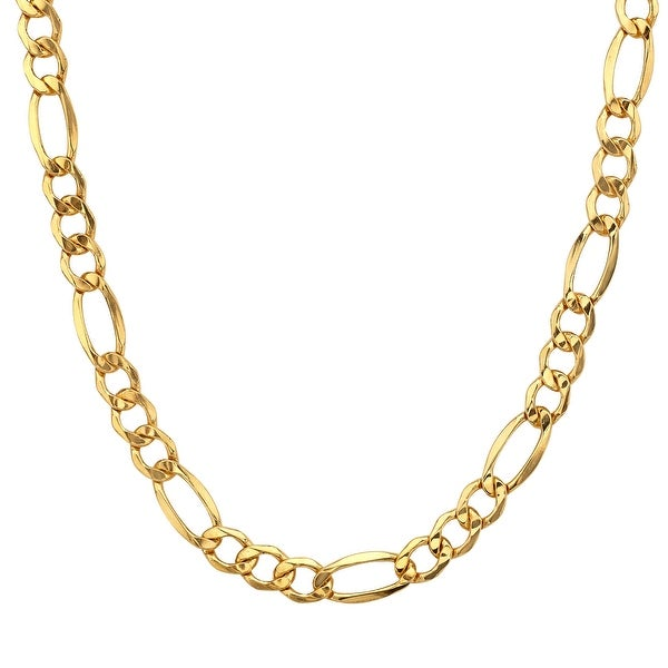 Men's Figaro Link Necklace in 14K Gold-Plated Sterling Silver