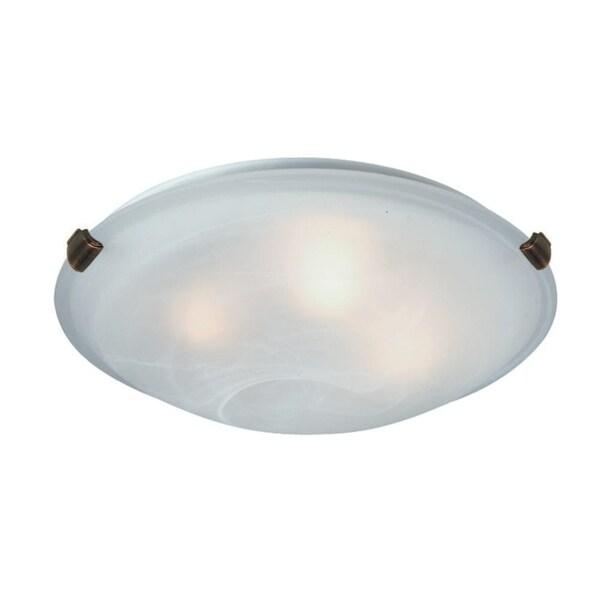 Artcraft Lighting AC2351SPWH 2 Light Flush Mount Ceiling Fixture - ANTIQUE BRASS