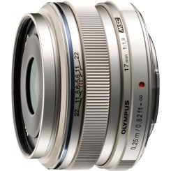 Olympus V311050SU000 Olympus M.ZUIKO DIGITAL 17 mm f/1.8 Wide Angle Lens for Micro Four Thirds - 46 mm Attachment - 0.08x