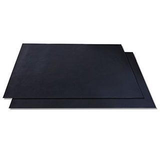 Barbeque Grilling Sheets - BBQ Grill Mat Set of 2 Heavy Duty Non Stick Reusable -Dishwasher Safe - Black