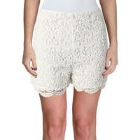 Aqua Womens Casual Shorts Lace Lined