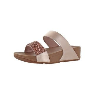 b42c3b0d60734b Quick View. Option 45223262. Option 45223263.  49.99. Fitflop Womens  Sparklie Crystal Slide Sandals Jeweled Slip On