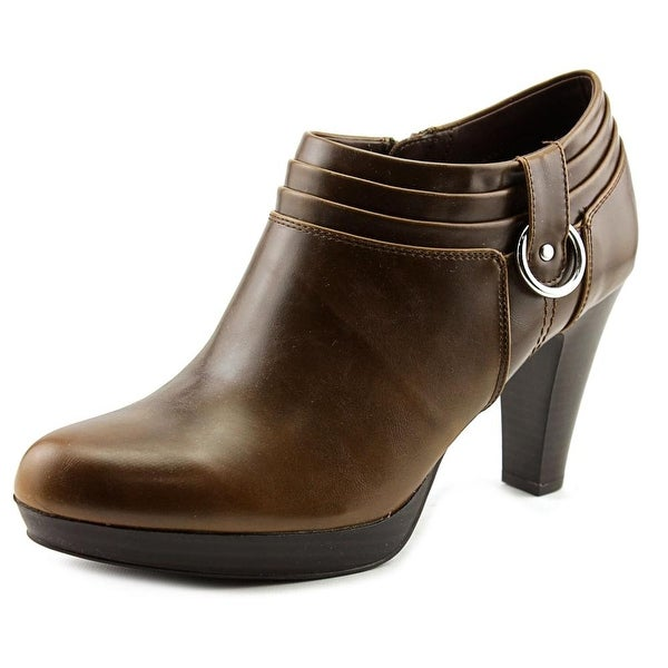American Living Genevie Women Round Toe Synthetic Brown Bootie