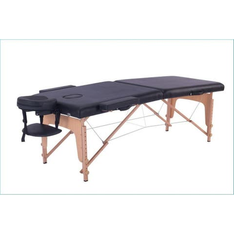 Atelier Du Nord- Foldable 2 Section Wooden Massage Table - 73x28x2.5""