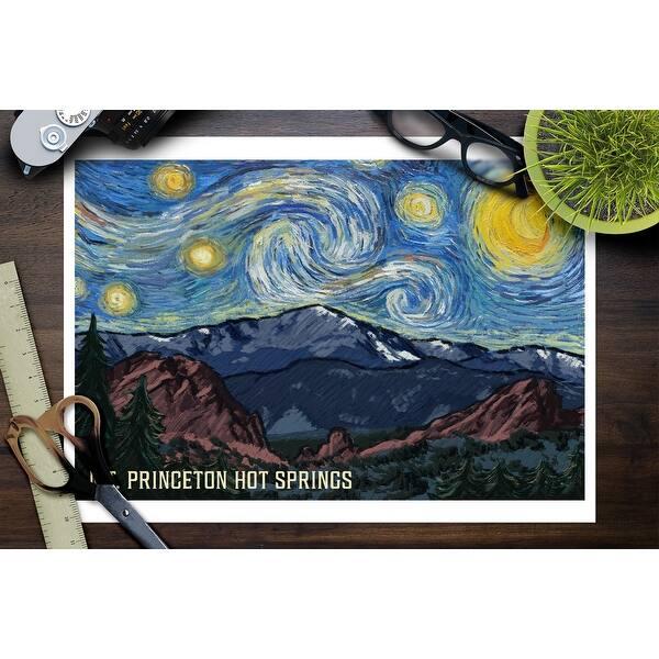 Mt Princeton Hot Springs Colorado Pikes Peak Starry Night Lantern Press Artwork Art Print Multiple Sizes Available