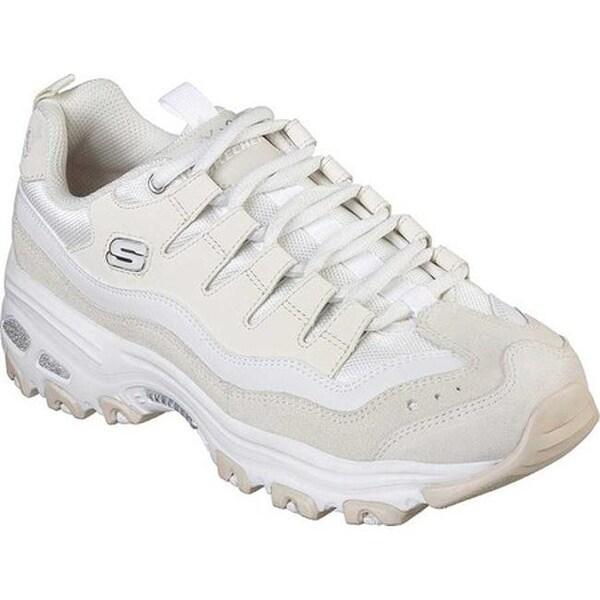 Skechers Women's D'Lites Sure Thing Sneaker WhiteNatural