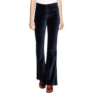 Free People Womens Oxanna Casual Pants Velvet Flare Leg
