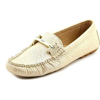 Lauren Ralph Lauren Caliana Women  Moc Toe Leather Gold Loafer