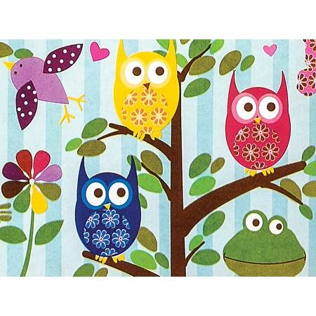"""Pack Of 1, 24"""" x 85' Woodland Fun Gift Wrap Roll For Approximately 50 Gifts Made In USA - Animals"""