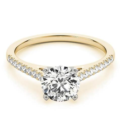 Auriya 14k Gold Round Moissanite Engagement Ring 2/3ctw