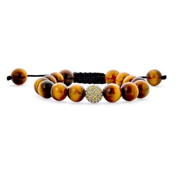 Pave Crystal Ball Beads Shamballa Bracelet Black Cord. Opens flyout.