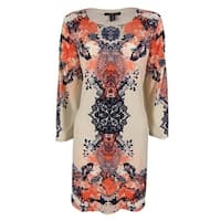 Style & Co. Women's 3/4 Sleeve Dress - scarf floral - m