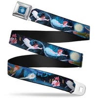 Peter Pan Compass Full Color Blue Fade White Peter Pan Group Flying Scene Seatbelt Belt