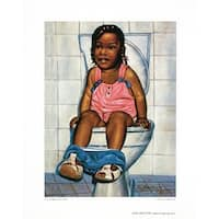 ''I'm a Big Girl Now'' by Hulis Mavruk African American Art Print (10 x 8 in.)