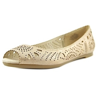 Easy Spirit Jenifry Women Peep-Toe Canvas Flats