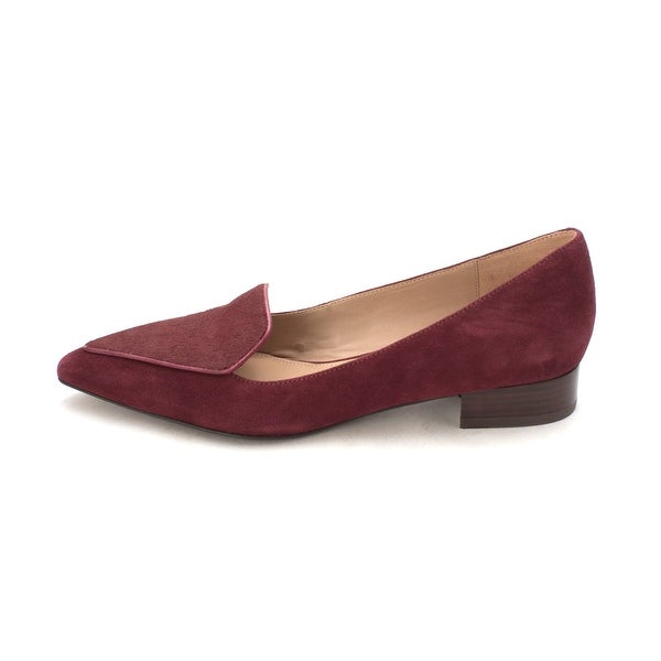 Cole Haan Womens Stinesam Fur Pointed Toe Classic Pumps - Purple - 6