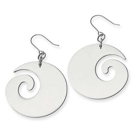 Chisel Stainless Steel Swirl Dangle Earrings
