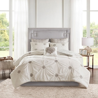 Link to Madison Park Edna 6 Piece Embroidered Cotton Reversible Comforter Set Similar Items in Comforter Sets